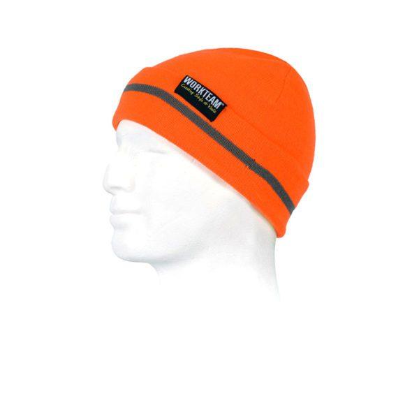 gorro-workteam-alta-visibilidad-wfa915-naranja-fluor