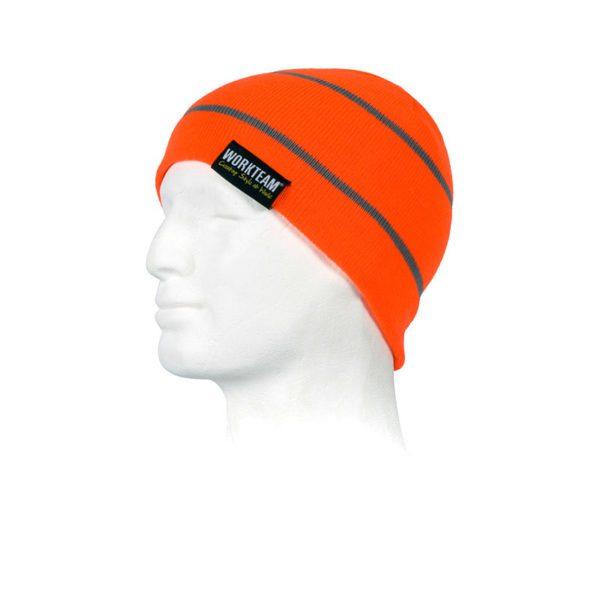 gorro-workteam-alta-visibilidad-wfa916-naranja-fluor