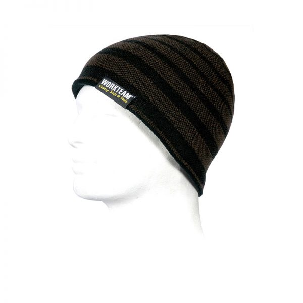 gorro-workteam-wfa920-marron-negro