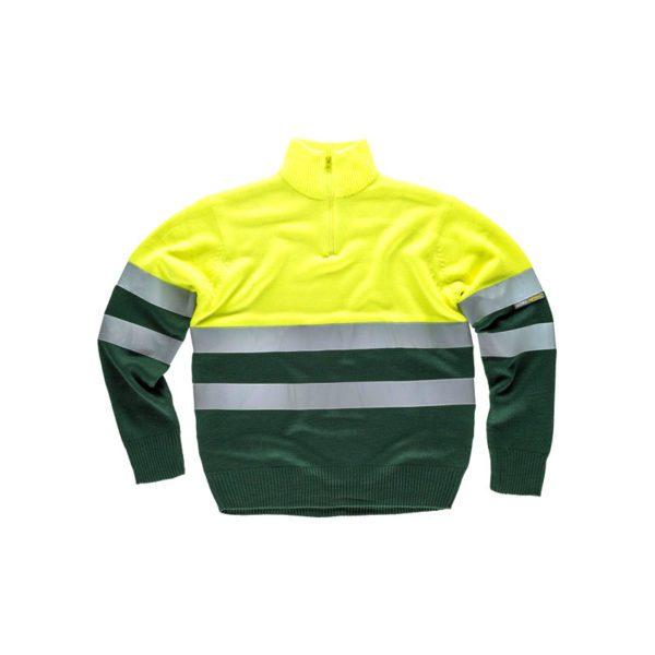jersey-workteam-alta-visibilidad-c5511-verde-oscuro-amarillo