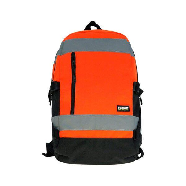 mochila-workteam-alta-visibilidad-wfa401-naranja-fluor