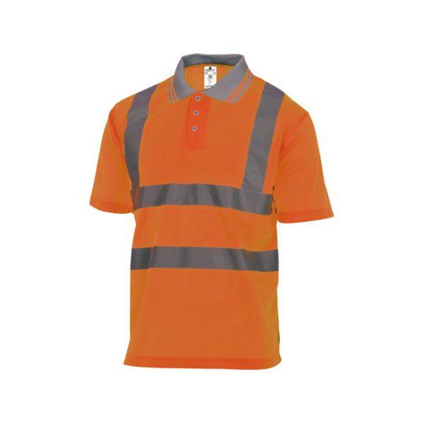 polo-deltaplus-alta-visibilidad-offshore-naranja-fluor