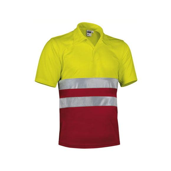 polo-valento-alta-visibilidad-build-rojo-amarillo-fluor