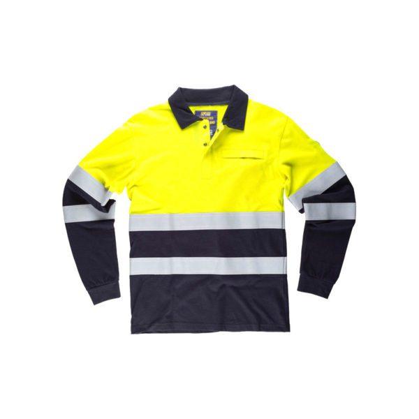 polo-workteam-alta-visibilidad-s6591-azul-marino-amarillo