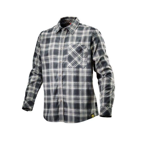 camisa-diadora-171662-shirt-check-negro-blanco
