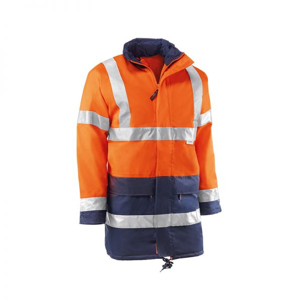 parka-juba-alta-visibilidad-oxford-hv742-naranja-fluor-azul