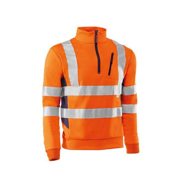sudadera-juba-alta-visibilidad-stratatos-hv791-naranja-fluor