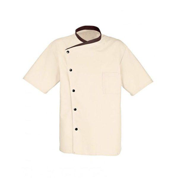 chaqueta-de-cocina-bragard-juliuso-manga-corta-9124-beige-marron