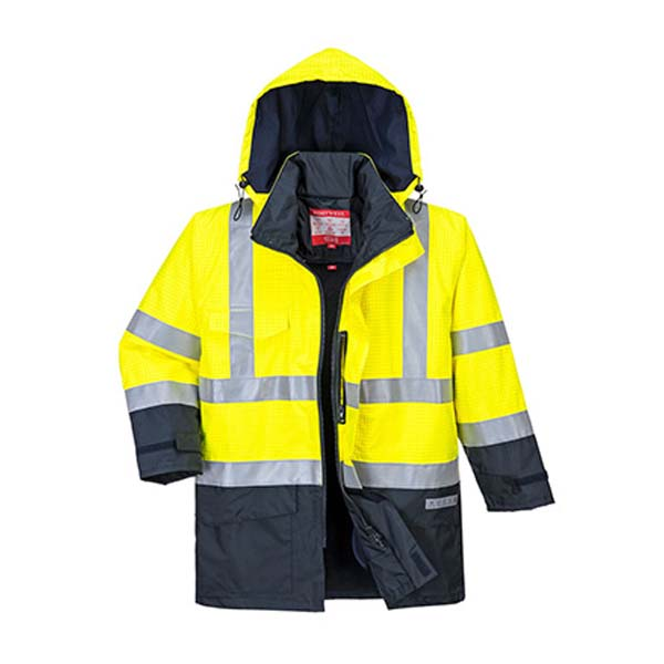 PARKA PORTWEST ALTA VISIBILIDAD MULTI-PROTECCIÓN BIZFLAME RAIN S779